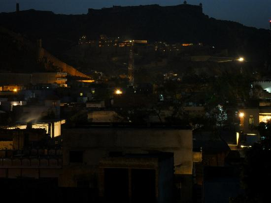 Hotel Amer View: view from the roof towards Amber fort