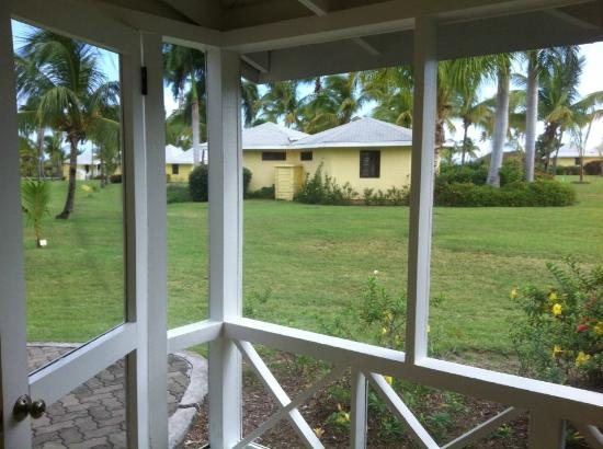Nisbet Plantation Beach Club : The view from our verandah - through the mosquito netting.