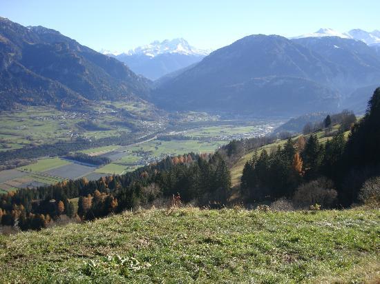 Hotel Plattas: Blick in die Alpen