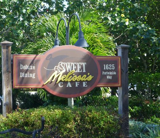 Sweet Melissa's Cafe: Sign for Sweet Melissa's