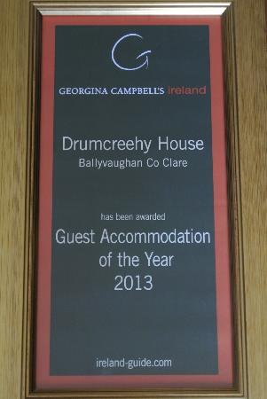 Drumcreehy Country House: Award Winner 2013