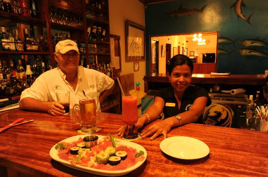Crocodile Bay Resort - An All-Inclusive Resort: The Bar at Crocodile Bay - Fresh Sashimi!!!