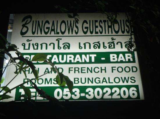 Bungalows Guesthouse : entreé de la guesthouse