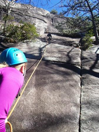 Pisgah Forest, NC: Climbing Looking Glass Rock