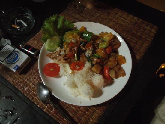 Bungalows Guesthouse: mon repas super bon