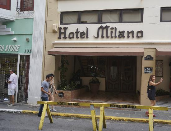 ‪‪Hotel Milano‬: The font of the hotel on Calle Fortaleza