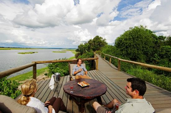 The new Chobe Game Lodge deck & boardwalk