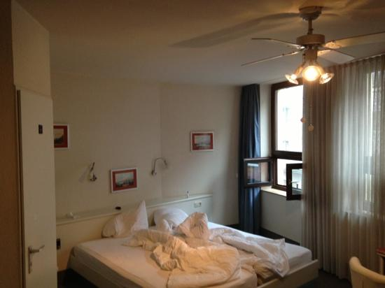 Hotel Granus: room (sorry we didn't make our bed)