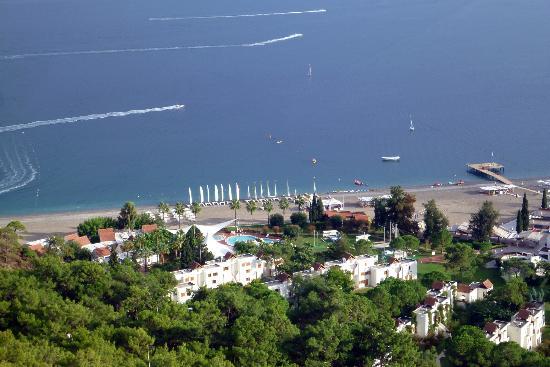 Club Med Palmiye: vue du rocher