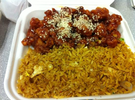Sesame chicken and fried rice - Picture of 126 Chinese ...