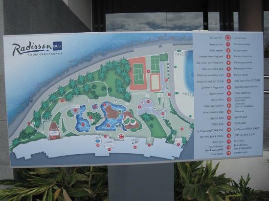 Radisson Blu Resort, Gran Canaria: Översiktskarta