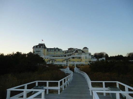 The Ocean House: View from the beach