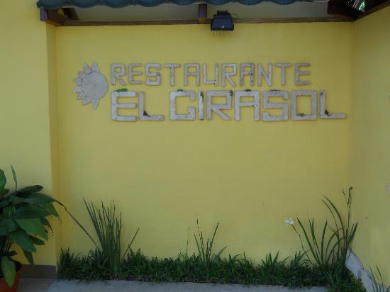 """Rotulo """"Restaurante el Girasol"""""""