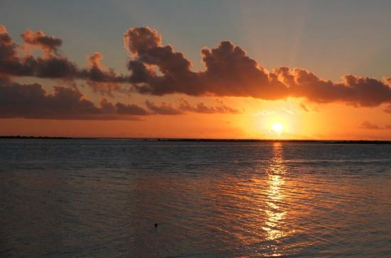 Bora Bora Ecolodge : Coucher de soleil