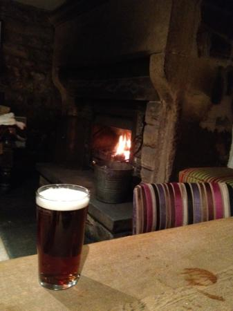 The Devonshire Arms at Beeley: real fire and real ale, perfect combination