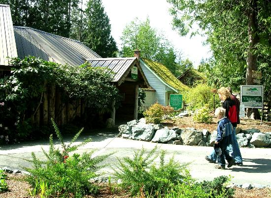 The Sooke Region Museum: Entrance to Museum with Moss Cottage in background
