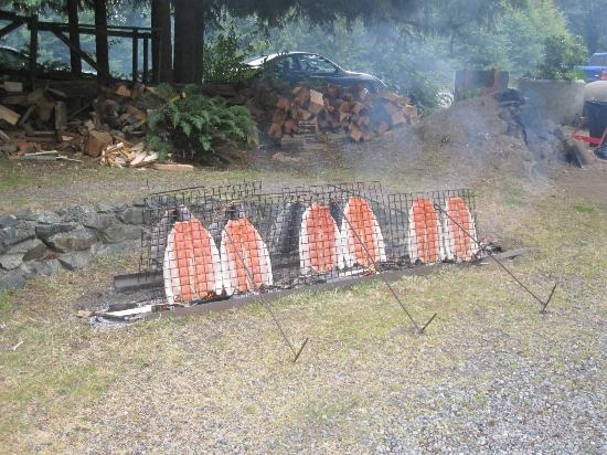 The Sooke Region Museum: Salmon cooking at one of our special events