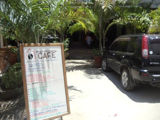 Stone Town Cafe: the menu