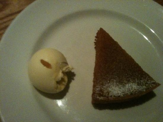 St Petroc's Bistro: Treacle Tart And Clotted Cream