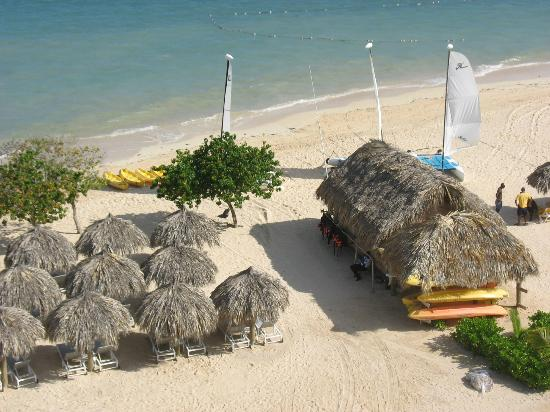 Iberostar Grand Hotel Rose Hall: view from the balcony overlooking the boat/kayak hut