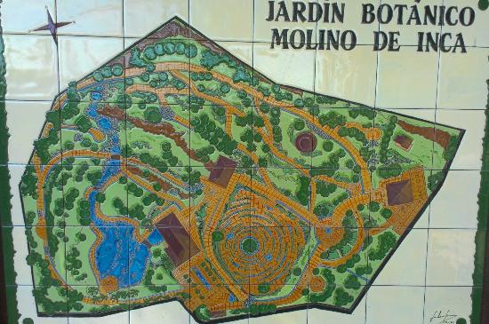Molina De Inca map Picture of Jardin Botanico Molino de Inca