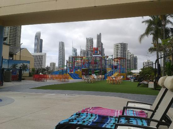 Paradise Resort Gold Coast: the view from my deck chair