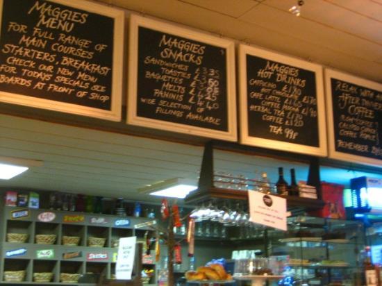 Maggie Mays: Daily menu