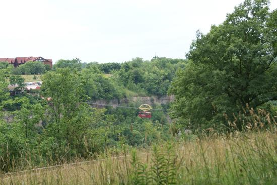 Niagara Gorge Trail: View of the gorge trailhead area