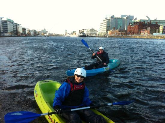 City Kayaking: Kayaking on the river Liffey