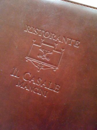 Il Casale Mancini: il menù
