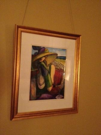 King George Inn: art hanging around inn