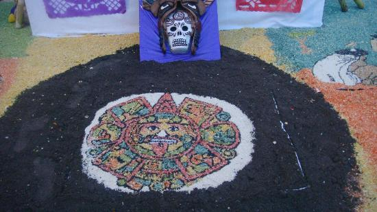 Arco Triunfal de la Calzada de los Heroes: Dibujos aztecas