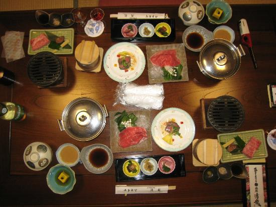 Ryokan Seiryu: 夕食