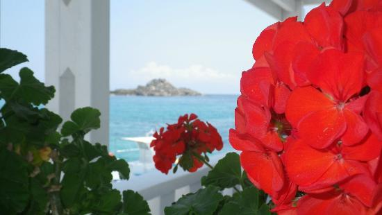 Petinos Beach Hotel: Just a pretty view from restaurant that gives you the 'greek isle' feeling.