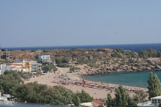 Caravella Luxury Apartments: View from room to Paleochora