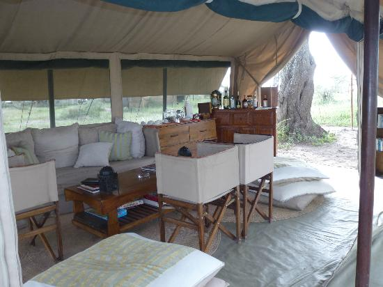 Olakira Mara River Camp, Asilia Africa: relaxing lounge