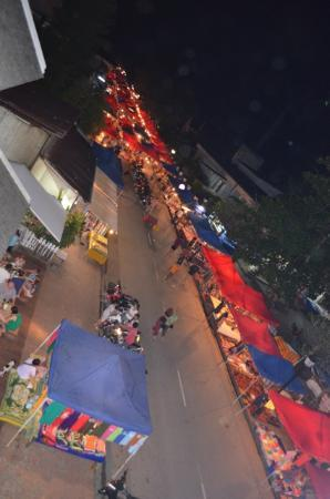 Indigo House: Night market - view from balcony