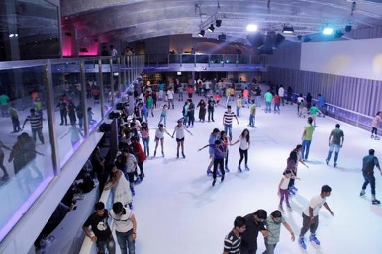 Skaters enjoy at iSKATE