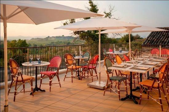 Montagnac, Frankrike: La terrasse avec vue panoramique