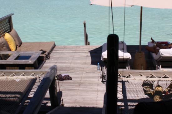 Gili Lankanfushi Maldives: Terrace at the amazing lagoon