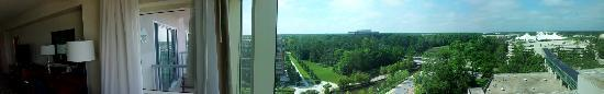 The Woodlands Waterway Marriott Hotel & Convention Center: Panorama of our room view