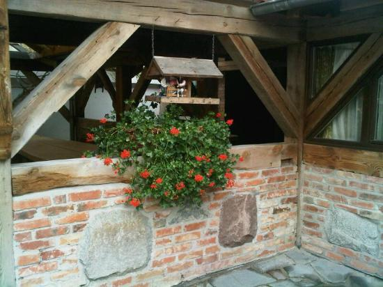 Karczma Chelminska: Guesthouse courtyard