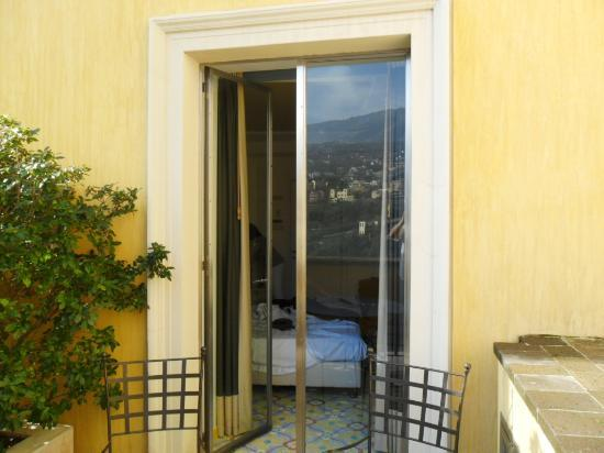Grand Hotel Angiolieri: from our terrace into our room