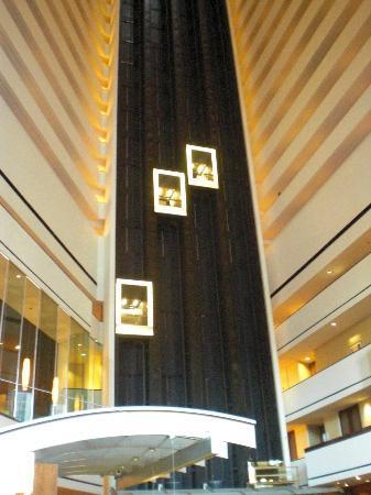 Hyatt Regency Houston: Gli ascensori interni
