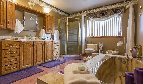 Stirling-Rawdon Bed & Breakfast: Separate shower and bath tab