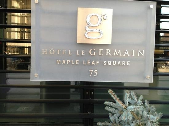 Hotel Le Germain Maple Leaf Square: main entrance sign