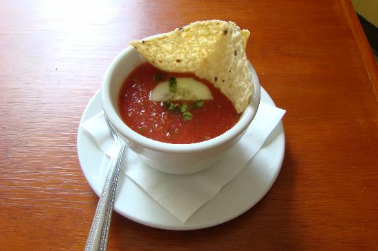 MIckey's Lakeside Cafe: Gazpacho! Ours was so lovely that my companion diner ordered seconds.