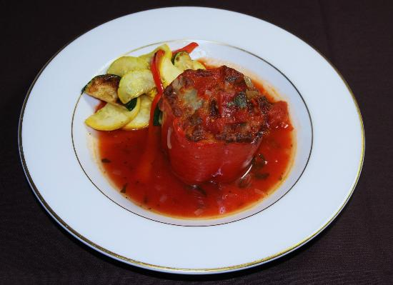 Lavinia's: Chopped Sirloin Stuffed Pepper