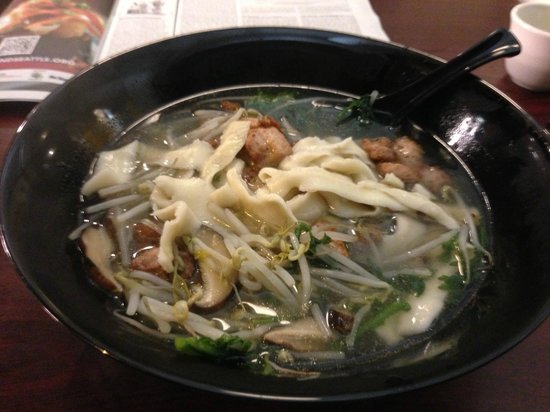 Henry's Taiwan Plus: Hand-Shaved Noodles with Chicken from my 2nd Visit. Amazing!