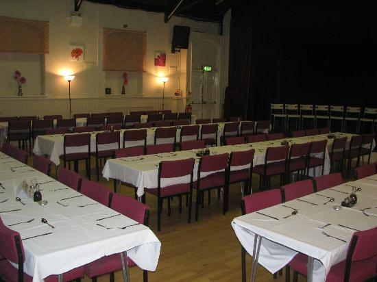 Seaton Delaval Arts Centre: Main Auditorium set up for a catering event